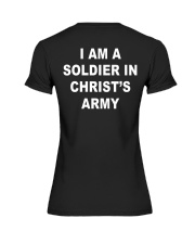 I am a soldier in Christ's army blacj Premium Fit Ladies Tee thumbnail