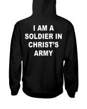 I am a soldier in Christ's army blacj Hooded Sweatshirt thumbnail