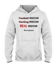 Football widow hunting widow real wiq Hooded Sweatshirt thumbnail