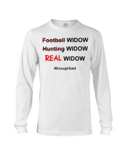 Football widow hunting widow real wiq Long Sleeve Tee thumbnail
