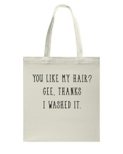 Afro Woman You Like My Hair Tote Bag thumbnail