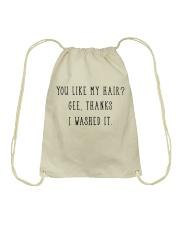 Afro Woman You Like My Hair Drawstring Bag thumbnail