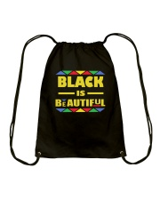 Black Is Beautiful African American Pride Drawstring Bag thumbnail