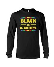 Black Is Beautiful African American Pride Long Sleeve Tee thumbnail
