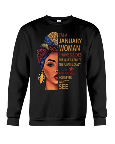 I Am A January Woman With Afro Hair