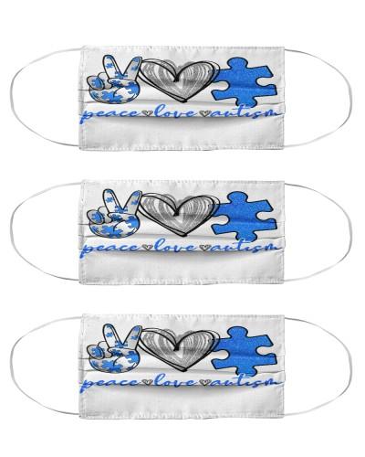 Peace Love Autism Mask