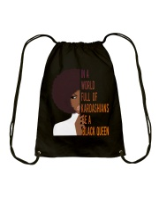 Be A Black Queen Beautiful And Magic Drawstring Bag thumbnail