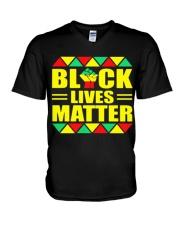 Black Lives Matter TT22 V-Neck T-Shirt thumbnail