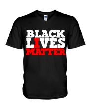 Black Lives Matter 01  V-Neck T-Shirt thumbnail