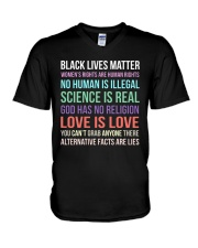 Black Lives Matter 25 V-Neck T-Shirt thumbnail