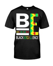 Black Excellence 2 Classic T-Shirt front