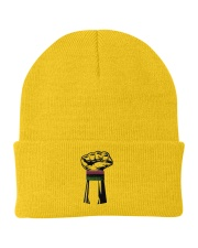 Black Power Fist Hat Knit Beanie thumbnail