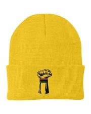 Black Power Fist Hat Knit Beanie tile