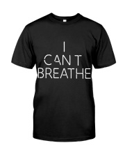 Mens I Cant Breathe and Black Lives Matter Classic T-Shirt front