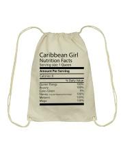 Melanin Caribbean Girl Drawstring Bag thumbnail