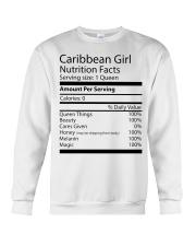 Melanin Caribbean Girl Crewneck Sweatshirt thumbnail