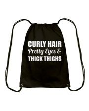 Black Girl Curly Hair Pride  Drawstring Bag thumbnail