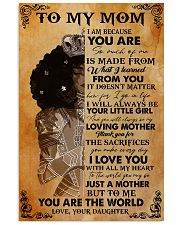 To My Mom Afro Black Mother 11x17 Poster front
