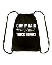 Curly Hair Afro Beauty Pride Drawstring Bag thumbnail