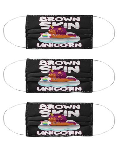 Brown Skin Unicorn Mask