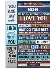 To My Son - Black Dad And Son 11x17 Poster front