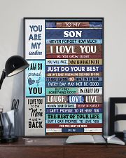 To My Son - Black Dad And Son 11x17 Poster lifestyle-poster-2