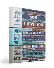 To My Son - Black Dad And Son 16x20 Gallery Wrapped Canvas Prints thumbnail