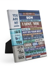 To My Son - Black Dad And Son 8x10 Easel-Back Gallery Wrapped Canvas thumbnail