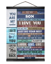To My Son - Black Dad And Son 12x16 Black Hanging Canvas thumbnail