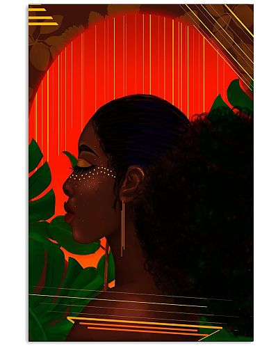 Black Girl With Music Poster