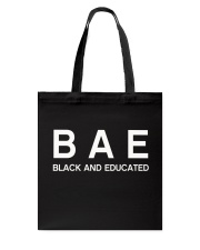 Black And Educated Tote Bag tile