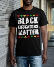 Black Educators Matter Teacher Classic T-Shirt apparel-classic-tshirt-lifestyle-front-40