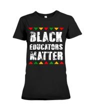 Black Educators Matter Teacher Premium Fit Ladies Tee thumbnail