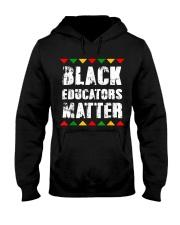 Black Educators Matter Teacher Hooded Sweatshirt thumbnail