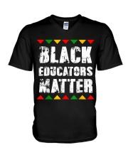 Black Educators Matter Teacher V-Neck T-Shirt thumbnail