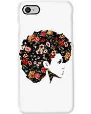 Black Woman Afro Hair With Flower Phone Case thumbnail