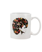 Black Woman Afro Hair With Flower Mug thumbnail