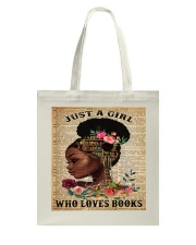 Just A Black Girl who loves books Tote Bag thumbnail