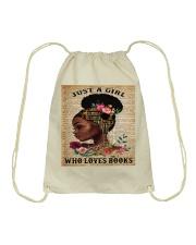 Just A Black Girl who loves books Drawstring Bag thumbnail