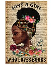 Just A Black Girl who loves books 16x24 Poster front