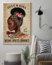 Just A Black Girl who loves books 16x24 Poster lifestyle-poster-1