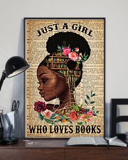 Just A Black Girl who loves books 16x24 Poster lifestyle-poster-2
