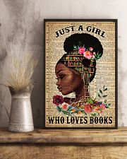 Just A Black Girl who loves books 16x24 Poster lifestyle-poster-3