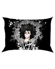 Melanin Girl And Natural Hair Rectangular Pillowcase tile