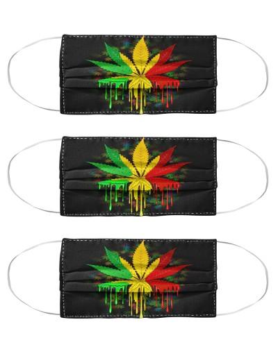Marijuana Leaf Rasta Colors Dripping