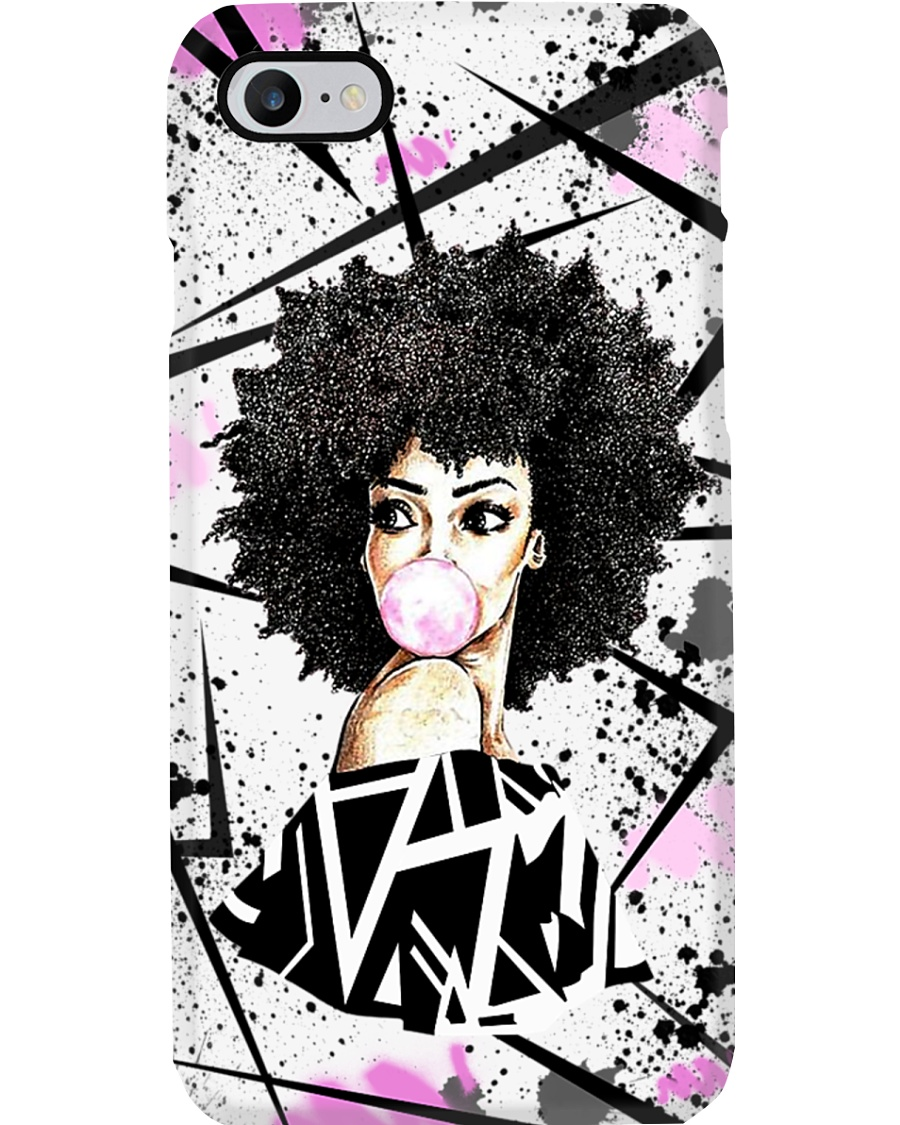 Melanin Girl And Natural Hair Phone Case