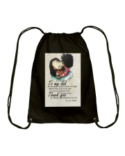 To My Dad Afro Dad And Daughter Drawstring Bag tile