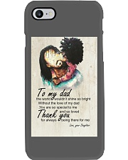 To My Dad Afro Dad And Daughter Phone Case thumbnail