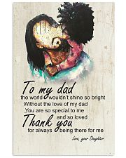 To My Dad Afro Dad And Daughter 11x17 Poster front