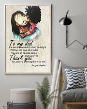 To My Dad Afro Dad And Daughter 11x17 Poster lifestyle-poster-1